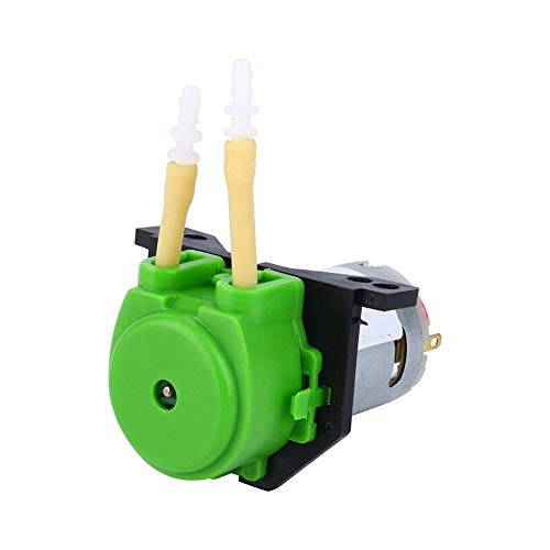 Peristaltic Liquid Pump,Dosing Pump 12V DC DIY Peristaltic Liquid Pump Hose Pump Dosing Head for Aquarium Lab Analytical Water (Green)
