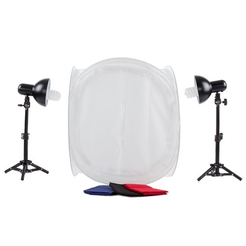Fovitec StudioPRO Product Photography Cube White Table Top Cube Lighting Tent Kit, 20'' by Fovitec (Image #5)
