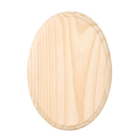 Bulk Buy: Darice DIY Crafts Wood Plaque Oval 5 x 7 inches (6-Pack) -