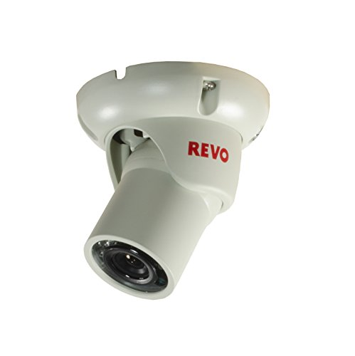 REVO America RCTS30-4 1200 TVL Indoor/Outdoor Mini Turret Surveillance Camera with 100-Feet Night Vision ()