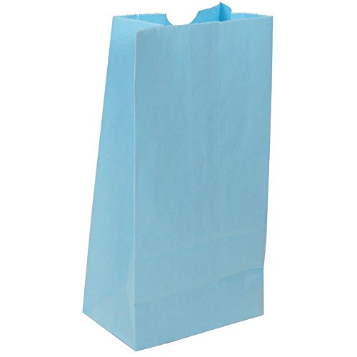 JAM-Paper-Kraft-Lunch-Bag-Small-4-18-x-8-x-2-14-Baby-Blue-500Box
