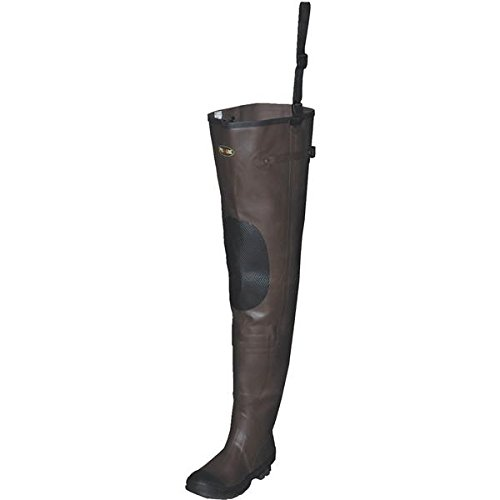 Pro Line Men's Stream Rubber Hip Waders Cleated Brown, BROWN, 12