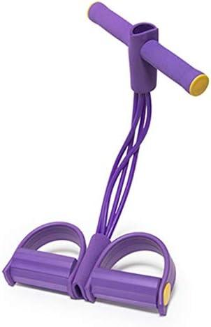 痩身胃腹筋エイズアシスタントフィットネスヨガ機器ホームピラティスロープペダルラリーアーティファクト (Color : Purple)
