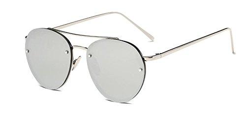 retro rond Lennon lunettes en de A du style Mercure polarisées Blanc vintage soleil inspirées cercle métallique RY8qpR