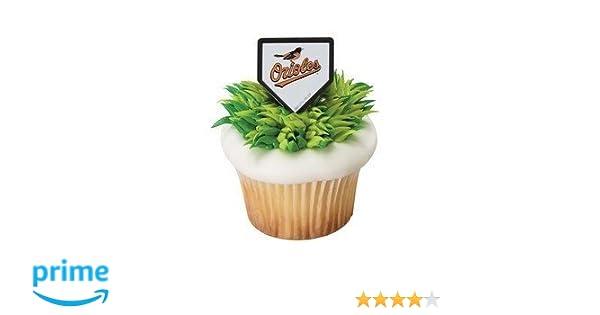 ca2f8082 MLB Baltimore Orioles Baseball Team Logo Cupcake Rings - 24 pc