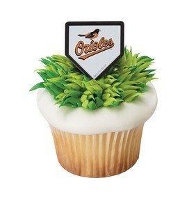 - MLB Baltimore Orioles Baseball Team Logo Cupcake Rings - 24 pc