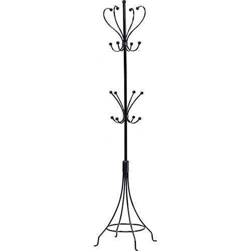 ポールハンガーラック ( コートハンガー 衣類収納 ) 幅36cm×奥行36cm スチールパイプ アイアンシリーズ ブラック ( 黒 ) 【デザインファニチャー】 B01LYU41GB ポールハンガーラック 幅36cm|ブラック ブラック ポールハンガーラック 幅36cm