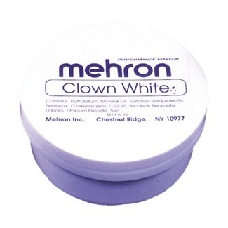 Mehron Makeup Clown White Makeup - 7oz (Makeup Halloween Costumes)