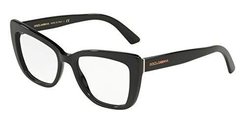 - Dolce Gabbana DG3308 Black/Clear Lens Eyeglasses