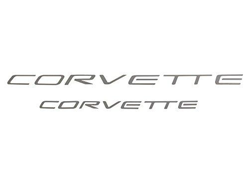 - 1997-2004 Corvette Vinul Decal Lettering Kit Front & Rear Chrome