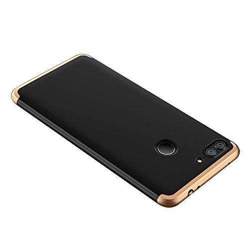 Huawei Honor 9 Lite Caso, Vandot de 360 Grados Alrededor de Todo el Cuerpo Completo de Protección Ultra Thin Slim Fit Cubierta de la Caja de Mate PC Absorción de impactos Shockproof para Huawei Honor  PC QBHD-7
