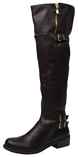 BCBGeneration Women's BG Krush Harness Boot, Oak, 7.5 M US