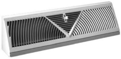 American Metal Products 3018W18-R Baseboard Diffuser, Sunburst, White Steel, 18-In. - Quantity 12