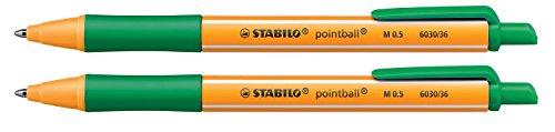 2er Set Stabilo 6030 Kugelschreiber pointball grün