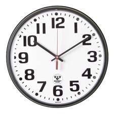 AbilityOne - Atomic Slimline Wall Clock - 12-3/4 Diameter, Black 6645-01-491-9814