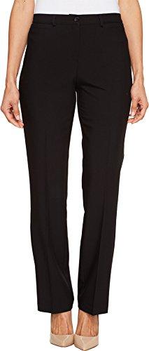 Tribal Women's Petite Flatten It Comfort Waist Soft Twill Straight Leg Pant, Black, 10 Petite ()