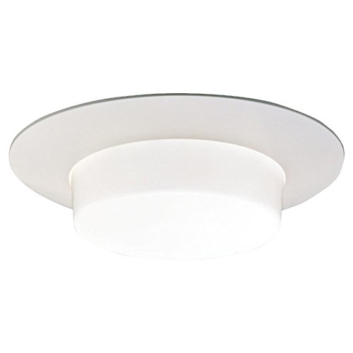(HALO Recessed 71P 6-Inch Trim with Drop Opal Lens, White)