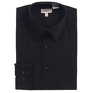 Gioberti Men's Long Sleeve Solid Dress Shirt