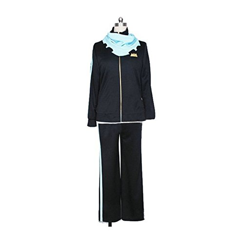 [Smoon Cosplay Noragami Yato Black Sport Suit Sportswear Costume(XL)] (Yato Cosplay Costume)