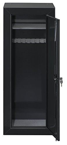 Stack-On GCB-1522 Steel 22-Gun Security Gun Cabinet with Foam Barrel Rests, Black