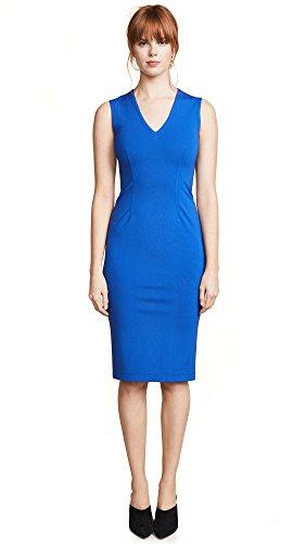 Yigal Azrouel Women's V Neck Dress, Dark Blue, 2