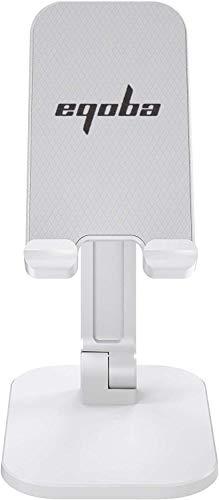 Eqoba Suporte de Telefone Celular, Portátil, Rotativo e Dobrável, Compatível Com o Tablet PC,Branco