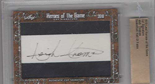 2018 Leaf Heroes of the Game Cut Signature- Isiah Thomas- Hall of Fame Pistons-