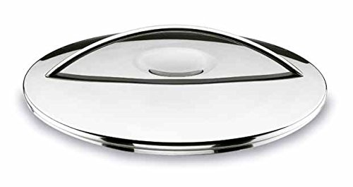 Stainless Steel Silver 30 x 28 x 7 cm Lacor Belly Round Dish with Cover