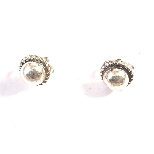Navajo Sterling Silver Ball Studs 1/4 Inch Round from Nizhoni Traders LLC