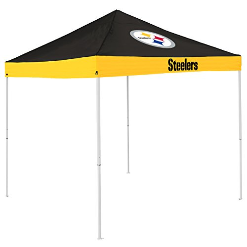Logo Brands NFL Pittsburgh Steelers Economy Tent Economy Tent, Charcoal, One Size