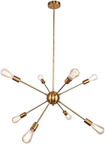 8-Light Gold Sputnik Chandelier