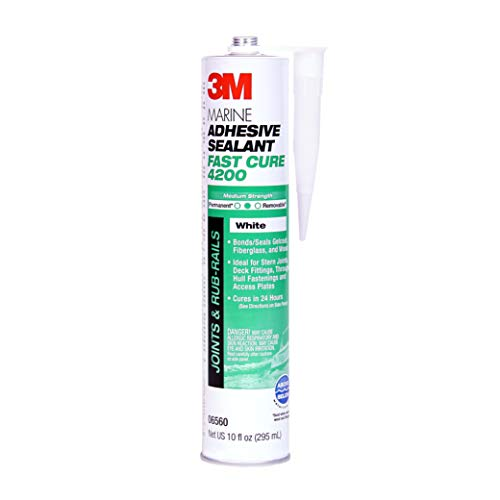 3M Marine Adhesive/Sealant Fast Cure 4200, 06560 , White, 1/10 Gallon