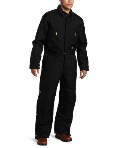 Carhartt Men's Arctic Quilt Lined Yukon Coveralls,Black,50 - Arctic Short Cat