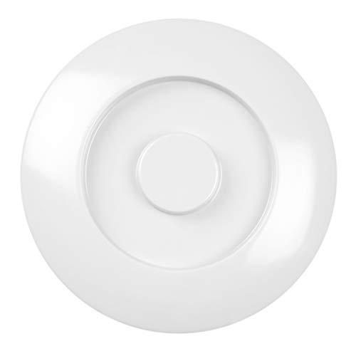 Nustone white melamine dinnerware collection 8 1/4