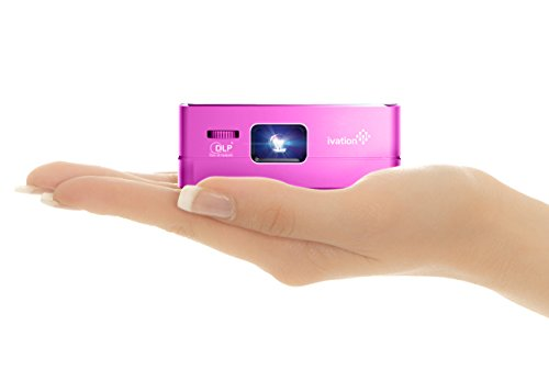 Ivation Pro3 Portable Rechargeable DLP Projector - Streams via HDMI/MHL & USB Connections, Wi-Fi, Bluetooth - Compatible with DLNA, Miracast, Airplay Wireless Mirroring for iOS & Android - Purple