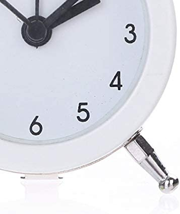 Tivollyff ポータブルかわいいミニラウンド目覚まし時計デスクトップテーブルベッドサイドクロックの装飾