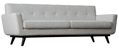 TOV Furniture The James Collection Mid-Century Modern Linen Fabric Upholstered Wood Living (Modern Round Sectional)