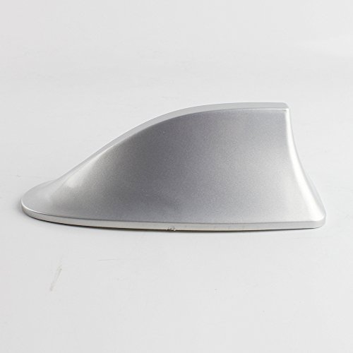 (Replacement Shark Fin Silver Antenna Roof Top Vortex Stereo Cover)