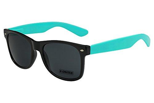 Style Rétro hommes Nerd Vintage X Turquoise Lunettes Noir CRUZE® de soleil femmes unisexe q1zf0qw