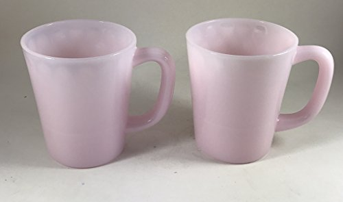 (Glass Coffee Mug - USA - American Made (2, Crown Tuscan Pink))