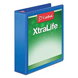 Xtralife Clearvue Non-Stick Locking Slant-D Binder 2\