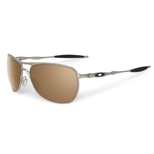 Oakley Titanium Sunglasses (Oakley Mens Ti Crosshair OO6014-01 Polarized Oval Sunglasses,Titanium Frame/Tungsten Iridium Polarized Lens,one size)