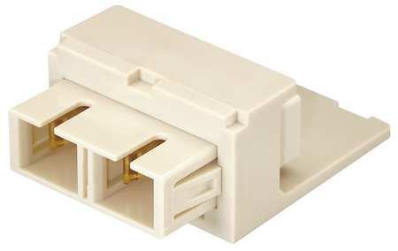 Adapter, Duplex SC Fiber, Electric Ivory