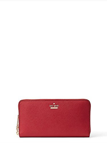 Kate Spade New York Womens Cameron Street Leather Lacey Wallet, Red