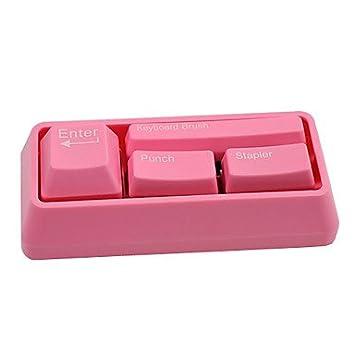 Easygoal Tastatur Style Buroartikel Set Tacker Locher