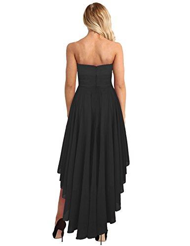 ... iiniim Damen Kleid Chiffon Brautjungfernkleid Kurz Partykleid Ballkleid Abendkleid  Cocktailkleid Festlich Hochzeit Festzug Gr.36 ... da9df0ba55
