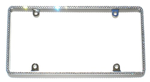 Small CRYSTAL License Plate Frame Rhinestone Bling made with Swarovski Crystals -  Cool Blingz, SW1Crys20C