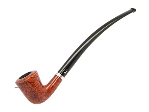 WatsonG.G. – 7.5 BRIAR Churchwarden style Tobacco Smoking pipe – Dublin – Hand Made (metal cooling filter) + Branded Pouch (special edition for Wats…