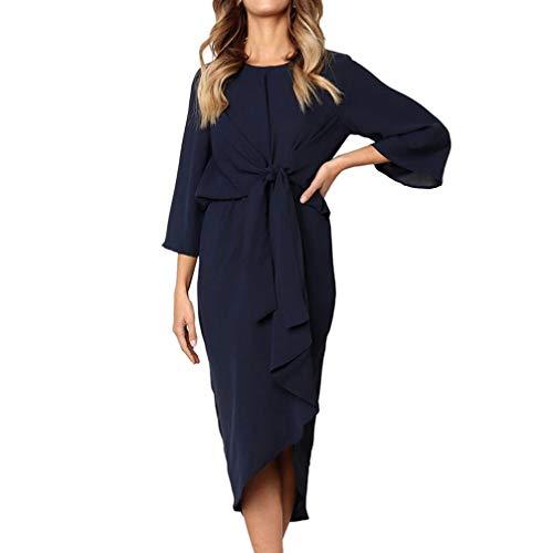 Price comparison product image Clearance Women Tops LuluZanm Fashion Club Midi Dress Irregular Hem Bow tie Evening Party Daily Solid Dress