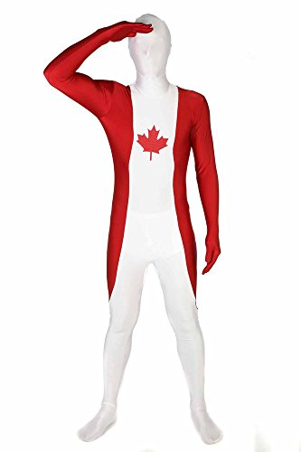 "Canada Original Flag Morphsuit Fancy Dress Costume - size XXLarge - 6""2-6""9 (186cm-206cm)"